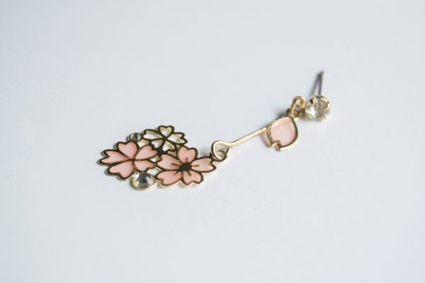 sakura detail earrings