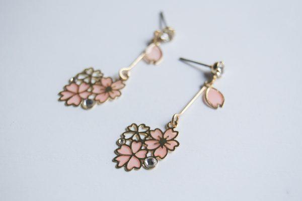 sakura side earrings