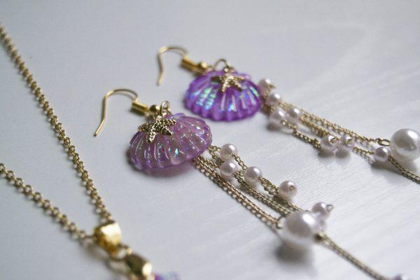 Mermaid pearls earring