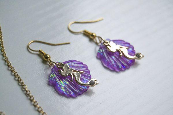 Mermaid shell earring