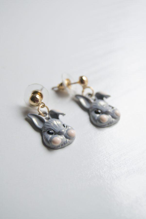 Grey rabbit side