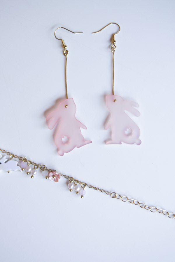 pink rabbit set