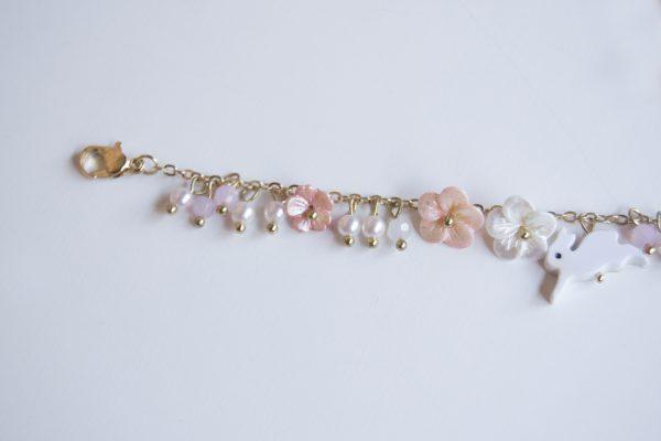 pink rabbit bracelet clasp