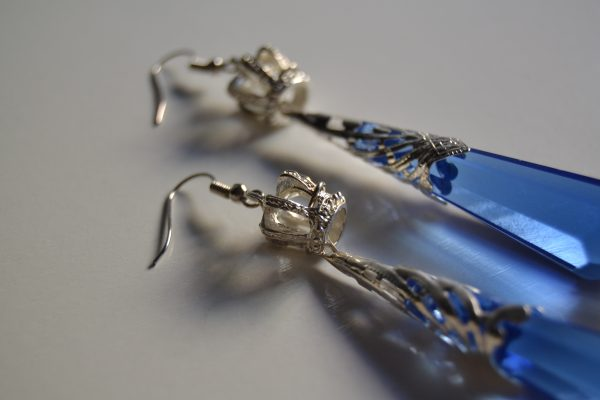 blue silver detail