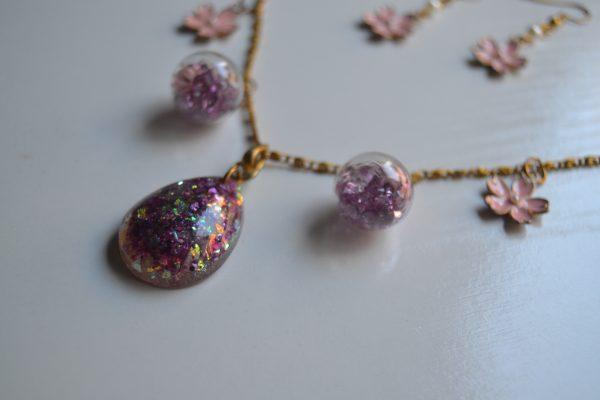necklace pink sakura
