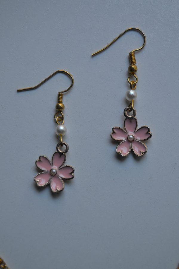 earrings pink sakura