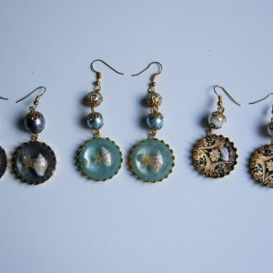 all glass earrings