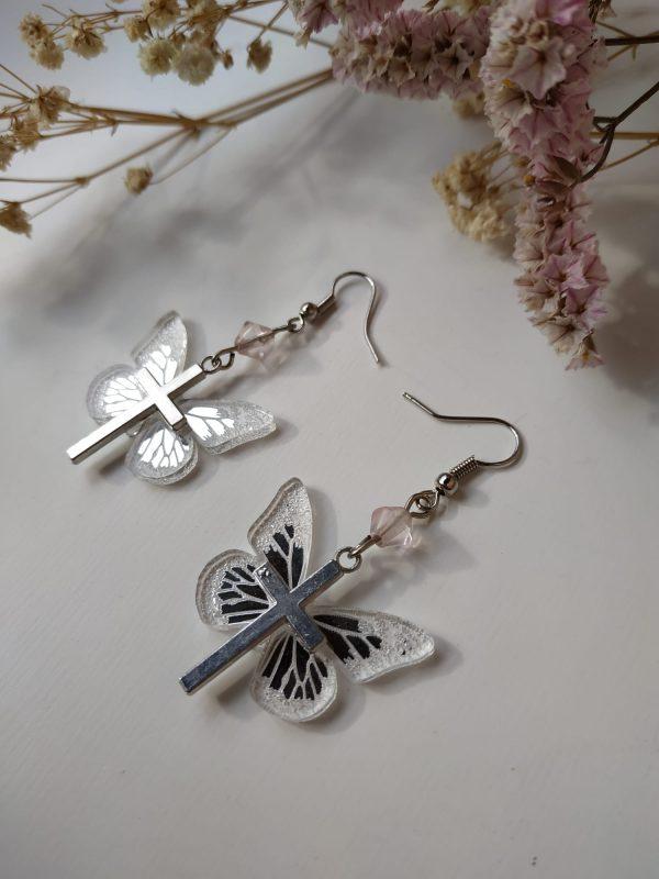 silver butterfly side